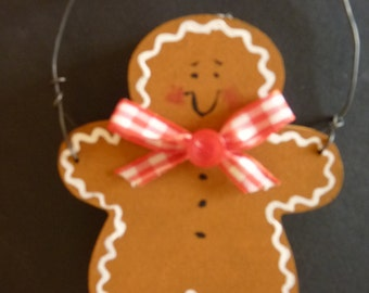 Christmas Gingerbread Man Ornament