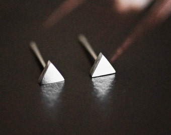 Triangle Stud Earrings, Tiny Triangle, Minimal, Minimalist, Geometric, Stud Earrings, Gift For Her, Gift, Surgical Steel, Titanium, PS4