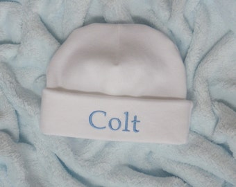 Newborn Hospital Hat. Newborn Hospital Beanie. Personalized Newborn Hat. Newborn Name Hat