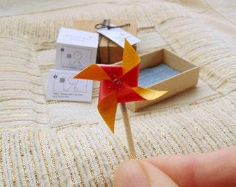 Miniature Pinwheel gift box. Tiny Pinwheel ready to gift. Pinwheel..Stocking stuffer.
