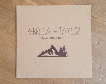Rustic Custom Kraft CD Sleeves - CD Wedding Favors - Kraft Photography Portfolio Dvd / CD Covers - Woodland Wedding