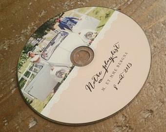 Custom Printed CDs - CD Labels - CD design - wedding favors, client photography portfolios, Printed cd/dvd Labels