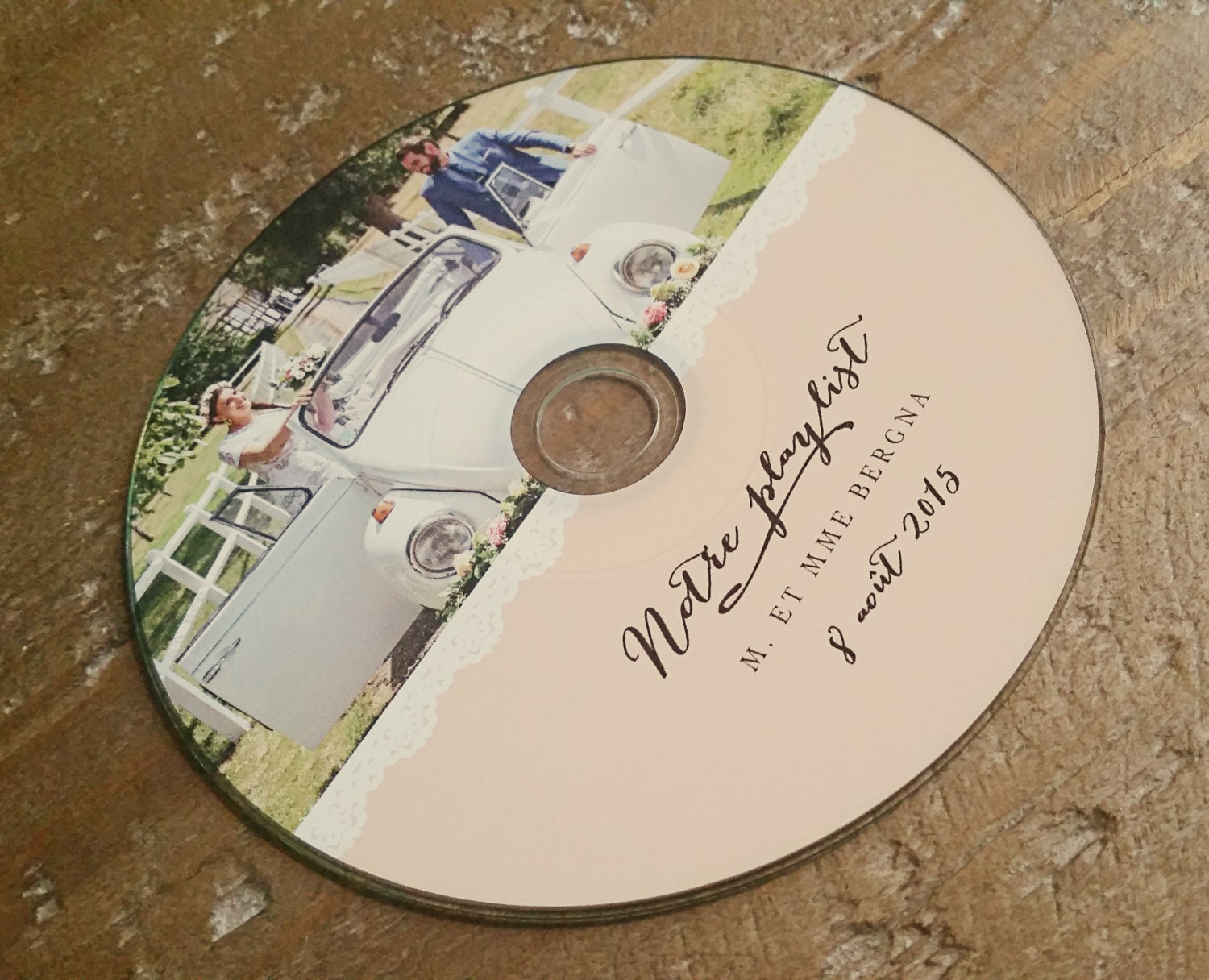 This is a picture of Accomplished Personalised Cd Labels Wedding