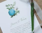 Tuscany Blue Botanical Floral  Wedding Invitations And Stationery