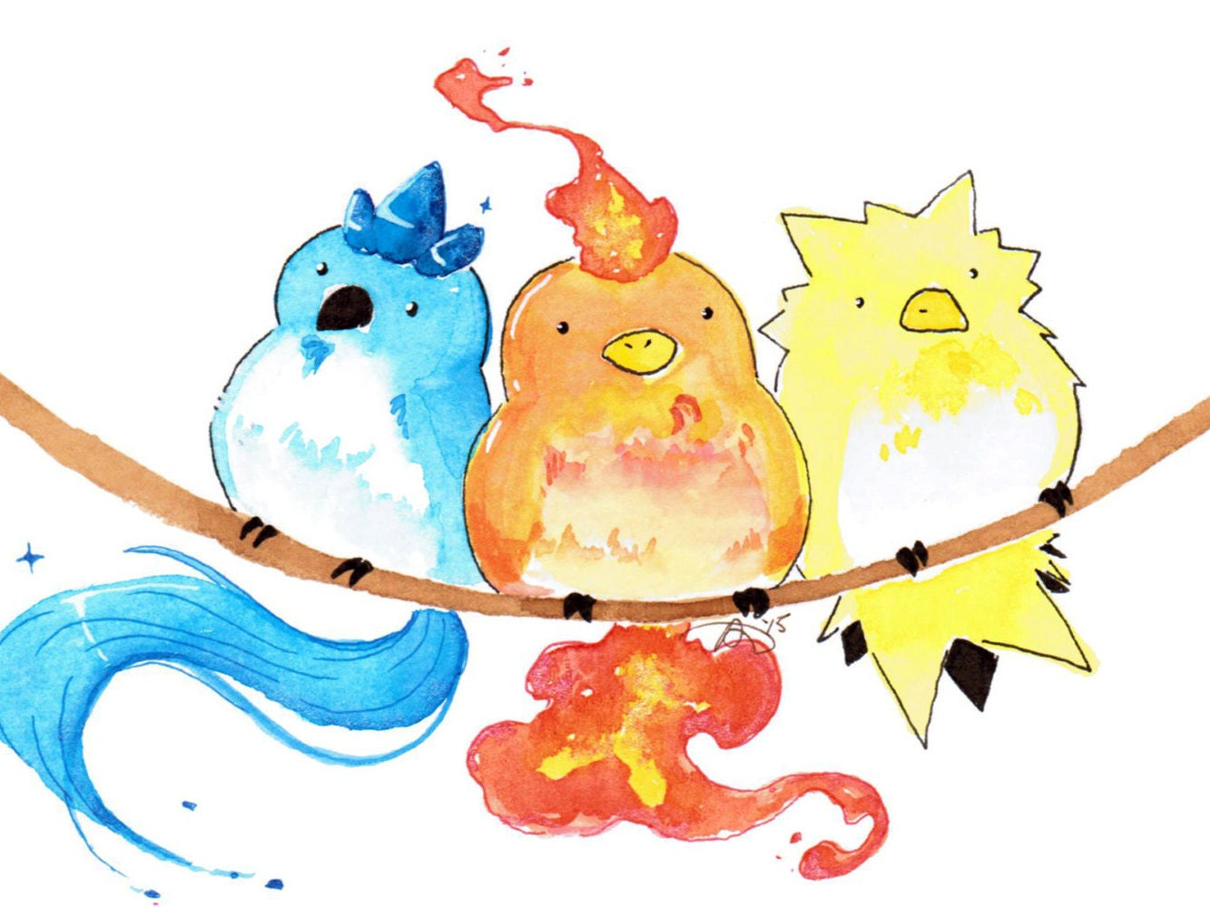 Pokemon cute watercolor art images pokemon images for Cute watercolor paintings