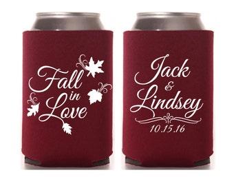 Fall In Love Can Cooler, Fall Theme Wedding, Autumn Wedding, Fall Wedding Favor, Fall Wedding Favors, Rustic Wedding, Fall Theme Shower
