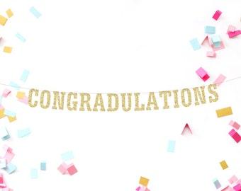 Graduation Banner, Graduation Sign, Graduation Decor, Congrats Banner, Graduation Garland, 2016 Graduation Party, College Graduation Party