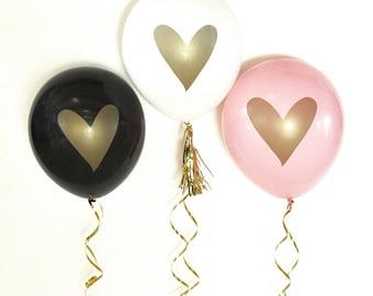 Gold Heart Balloon, Wedding Photo Props, Wedding Balloons, Engagement Party Decor, Gold Wedding Decor, Gold Bridal Shower, Wedding Reception
