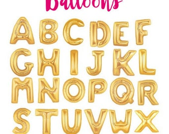 gold letter balloons gold foil balloon baby shower balloon party decor party props party supply birthday decoration baby shower decor