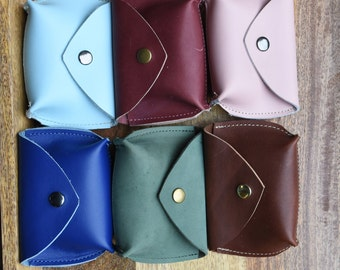 Leather Coin Pouch -  Handmade leather coin purse