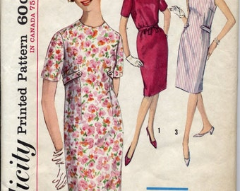 Vintage 1960s One-Piece Dress Pattern, Size 16, Bust 36, Simplicity 5316