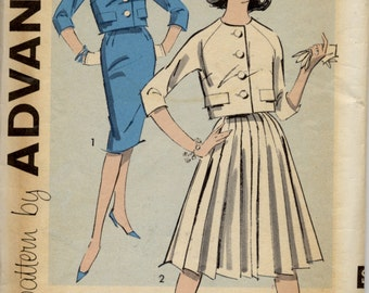 Cute 1950s short jacket with two skirts, Teen Size 12, Advance 9311