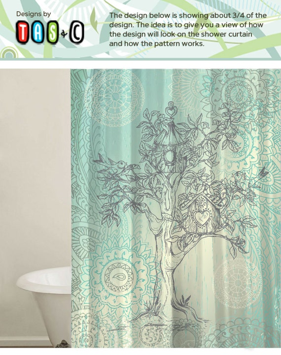tree design shower curtain custom shower curtains by tasandc