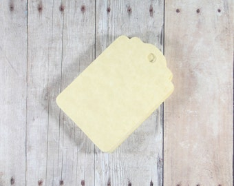 Antique Gold Gift Tags Set of 20 - Blank Gift Tags - Gold Favor Tags - Wedding Tags - Wish Tree Tags - Hang Tags - Gold Party Tags