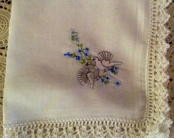 Embroidered lace Handkerchief