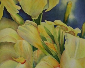 Yellow Cannas - Giclee Print by Karen Frattali