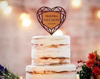 Custom Wedding Cake Topper | Rustic Wedding Cake Topper | Bridal Shower Cake Topper | Country Chic Wedding | FREE SHIPPING-CT#32