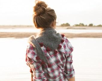 Knitting Pattern For Whisper Scarf : Furry Cowl PDF KNITTING PATTERN