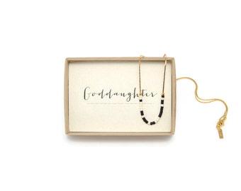 GODDAUGHTER || Morse Necklace, Goddaughter Gifts, Baptism Gift For Goddaughter, Goddaughter Baptism, Goddaughter Necklace, God Daughter Gift
