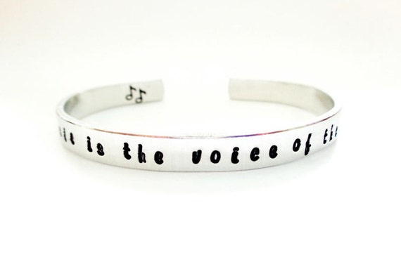 Personalized Affirmation Cuff Bracelet - Custom Bracelet - Hidden Message - Quote Bracelet - Engraved Bracelet, Music LOvEr
