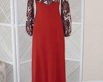 1970's ROCKSTAR Goddess Gown MAXI!