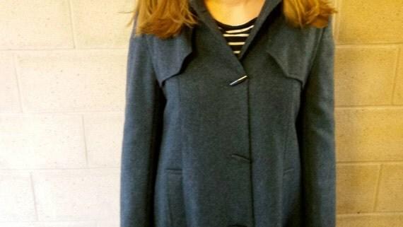 vintage ladies duffle coat vintage toggle coat long vintage