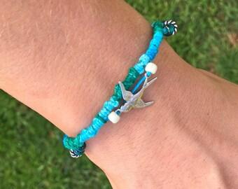 Blue Sparrow Bracelet