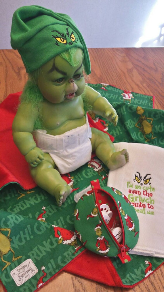 Items Similar To Grinch Baby Blanket Gift Set Infant