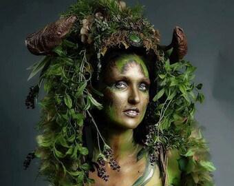 Forest Queen Druid Beltane Goddess Woodland  Wiccan Wedding Renaissance Spring Headdress Headpiece