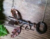 Climbing Vine Skeleton Key Necklace