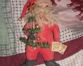 Folkart Santa,primitive Santa, primitive Christmas,Primitive ornir,FAAP,OFG ,CIJ