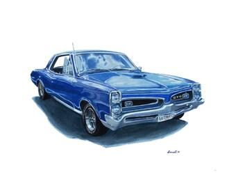 1967 GTO Blue
