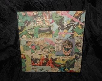 Green Lantern Corps comicbook panels Box canvas 20cm