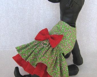XXS-M Christmas Tiny Dog Dress - Little Dog Holiday Dress - Xmas Puppy Dress - Pet Christmas Dress - Teacup Yorkie, Chihuahua