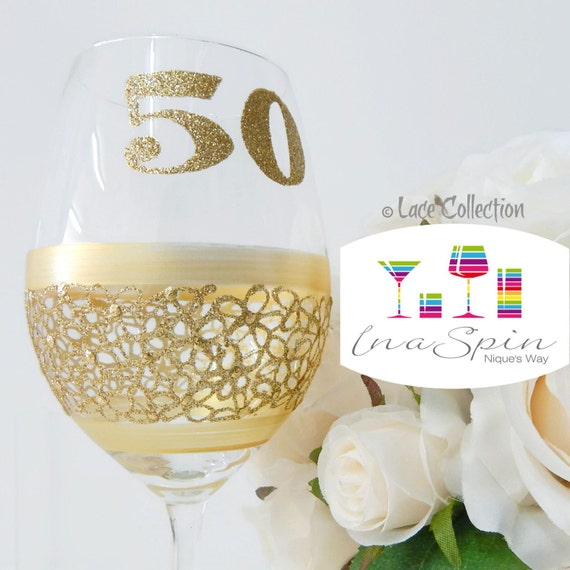 50th Birthday Wine Glass Gift For Her Gifts By