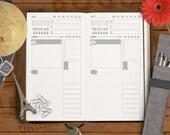 SkinnyJane - Snapshot Day Planning Printable Insert for Midori and Fauxdori Travelers Notebooks & Personal Filofax