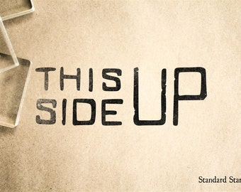 This Side Up Rubber Stamp - 3 x 1 inches