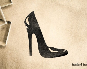 High Heels Rubber Stamp - 1.5 x 1.5 inches