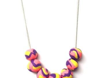 "Handmade Polymer Clay Necklace ""Fairy"""