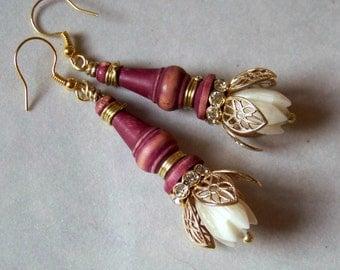 Earrings, Toy Figures, brass  * 797