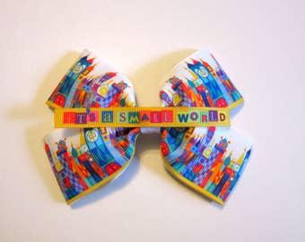Small World #1 Hair Bow   Disney inspired bow   Disneybound Cosplay accessory   Mary Blair