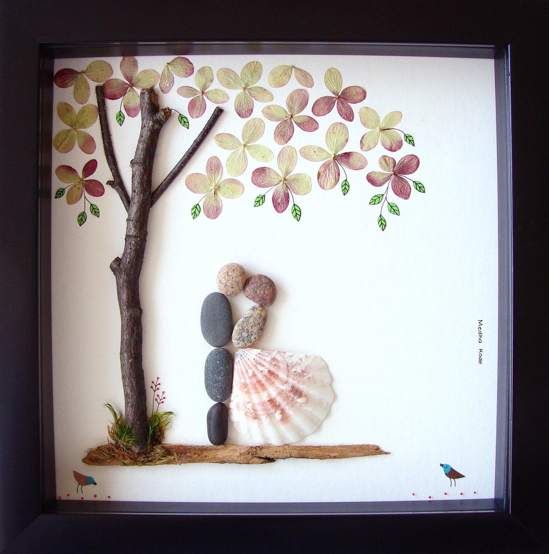 Wedding Gift Pebble Art Unique Engagement Gift: Wedding Gift Pebble Art Unique Wedding Gift For Couple