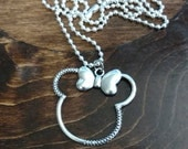 Silver Minnie Necklace