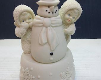 Snowbabies Walking In A Winter Wonderland Snowman Music Box