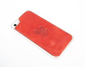 Leather iPhone SE Case / iPhone 5s Case - Majestic Flying Eagle