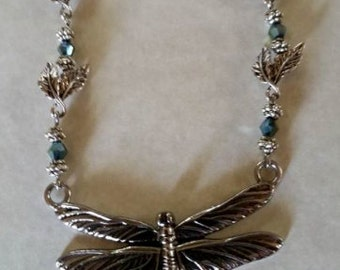 Silver Necklace Dragonfly #289
