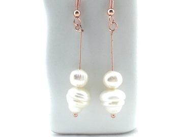 Baroque Pearl Drop Earrings Tsalagi Cherokee Made