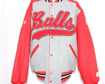 Vintage Chicago Bulls Starter Script NBA Jacket L