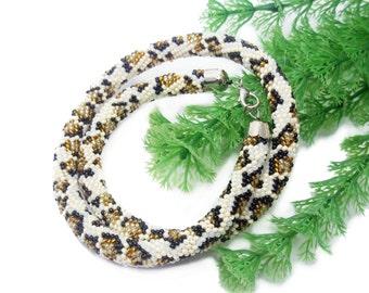 Leopard print statement necklace animal fashion jewelry cat animal print necklace leopard print jewelry accessories leopard inspired jewelry