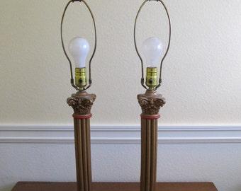 Mid Century Lamps, Lamps, Vintage Lamps, Vintage Lighting, Lighting, Mid Century Decor, Mid Century, Lamp Pairs, Mid Century Lighting